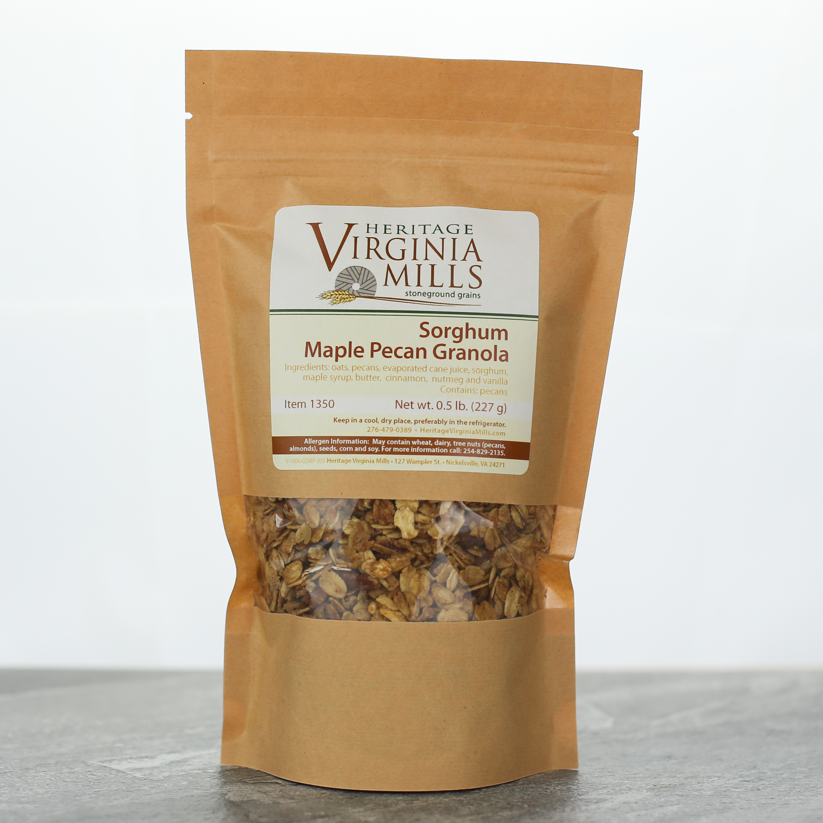 Sorghum Maple Pecan Granola