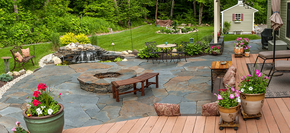 Sugarledge stone patio | Williamsburg MA