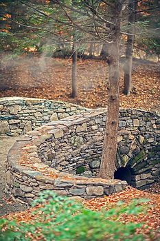 A Creative Dry-Laid Stone Bridge in Western Mass - by CountryScape Landscape