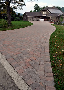 A Heated Brick Paver Driveway in Western Mass - by CountryScape Landscape