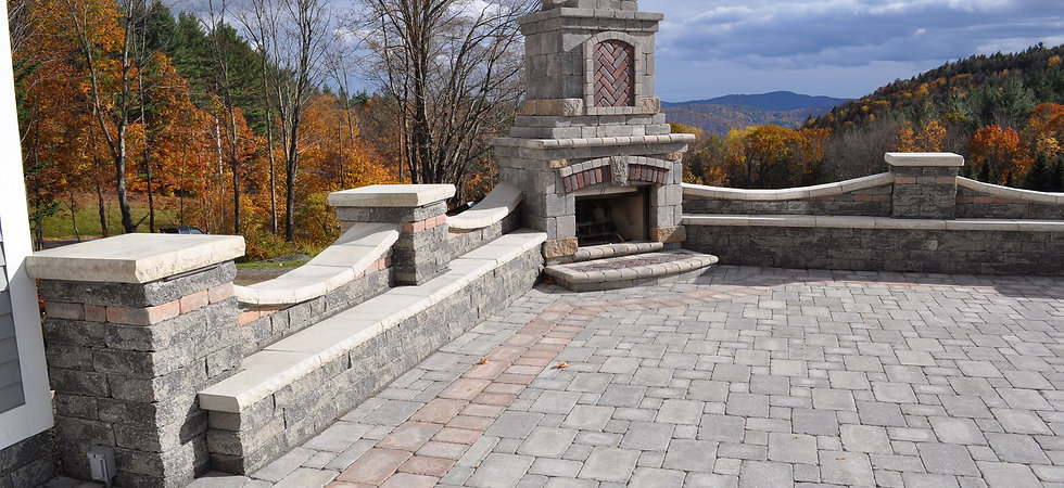 Outdoor Fireplace and Patio | Heath MA