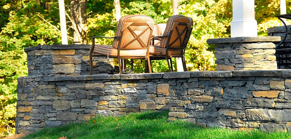 Ashfield Stone patio in Western Mass.
