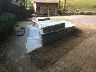 New Stone Planter Bed