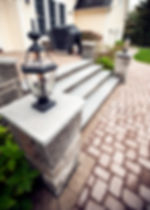 Granite Stone Steps and Pillars in Western Mass - by CountryScape Landscape