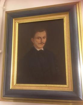 portrait jeune homme huile sur toile XIX