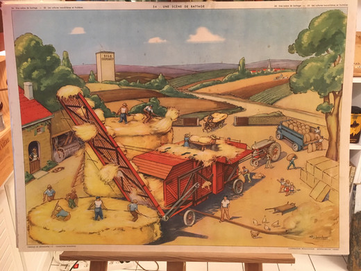 1953_-_tableau_54_Une_scène_de_battage.J