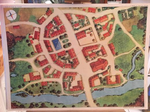 1953 - tableau 3 LE PLAN DU VILLAGE.JPG