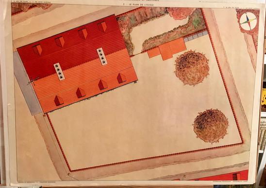 1953- tableau 2 LE PLAN DE L'ECOLE.jpg