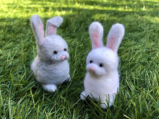 Needle Felted Rabbits
