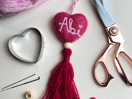 Make Needle-Felted Hearts