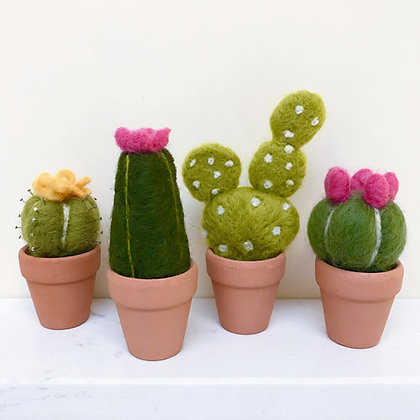 Needle-Felted Cacti