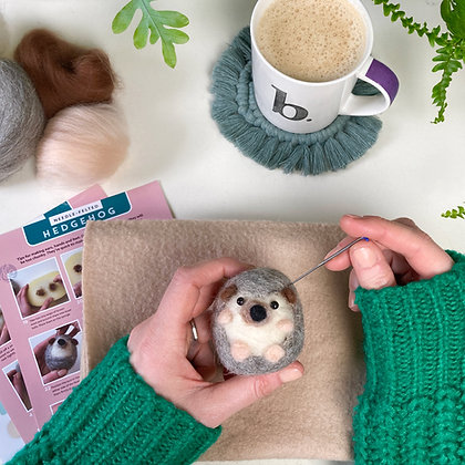Needle Felted Hedgehog Kit