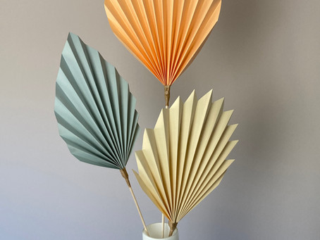 Make Folded Paper Palms – Free Tutorial