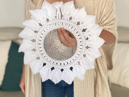 Macramé Snowflake Mandala