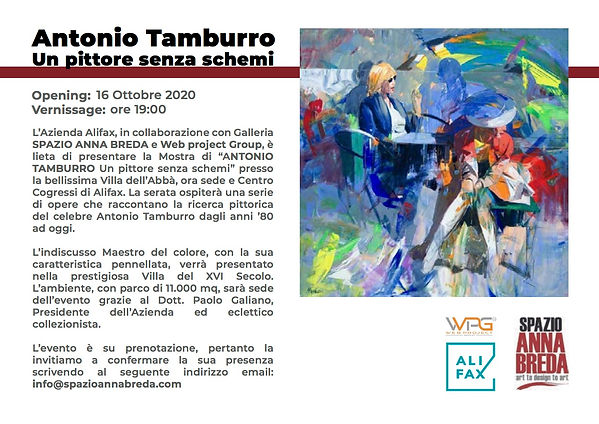 Cartolina invito evento Antonio Tamburro