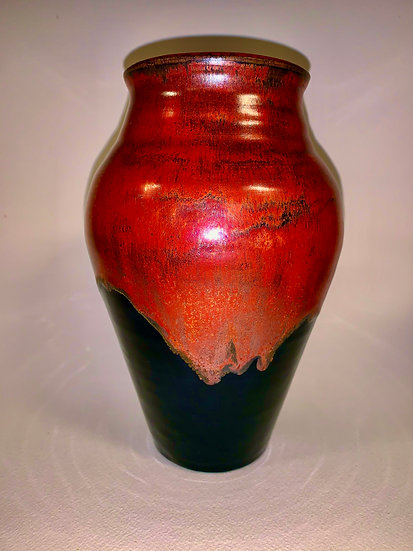 Copper Glaze Vase | Ceramics | 8""