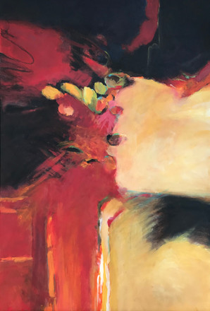 "Summer Heat | Acrylic Mixed Media with Plaster Fabric | 24"" 24"" | Unframed"
