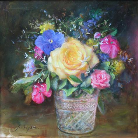 Miniature Roses | Oil | 12 x 12