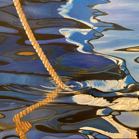 "Anchor Down | Oil | 24"" h x 30"" w | Unframed"