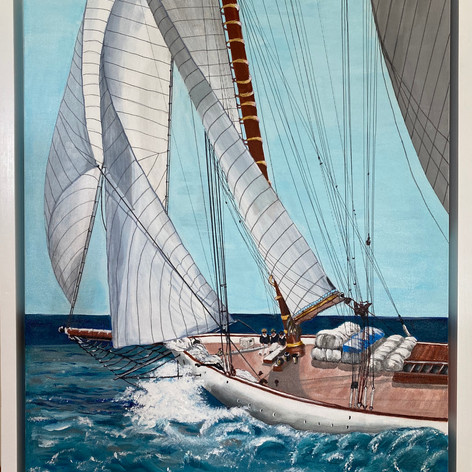 "Race With The Wind | Acrylic | 24"" h x 20"" w | Framed"