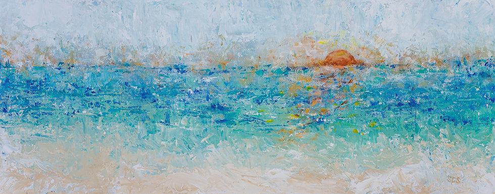 "Sunrise Or Sunset | Acrylic  |  16"" x 40"" | Unframed"