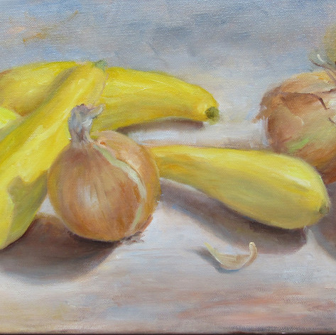 Squash and Onions | Oil | 10 x 20