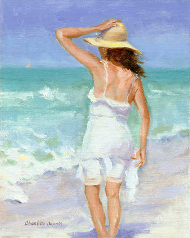 "Summer Breeze | Oil on Linen | 8"" x 10"" 