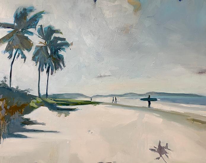 "Playa Garza | Oil on panel | 36"" x 48"" | Unframed"