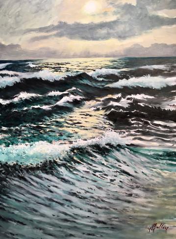 """Open Seas   Oil   40"""" x 30""""   Unframed"""
