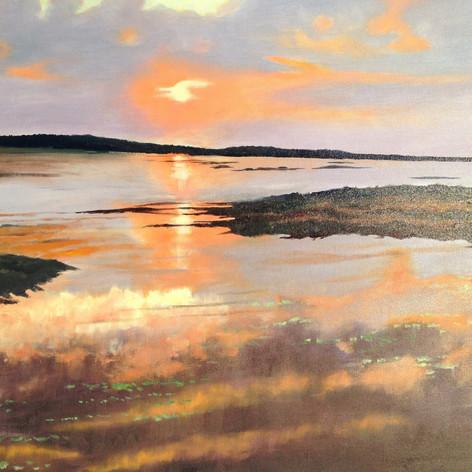 Sun Set on the Marsh | Oil | 24 x 36