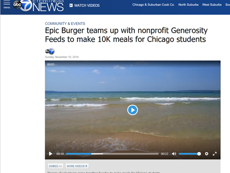 ABC 7: Epic Burger Teams up with Nonprofit Generosity Feeds to Make 10K Meals for Chicago Students
