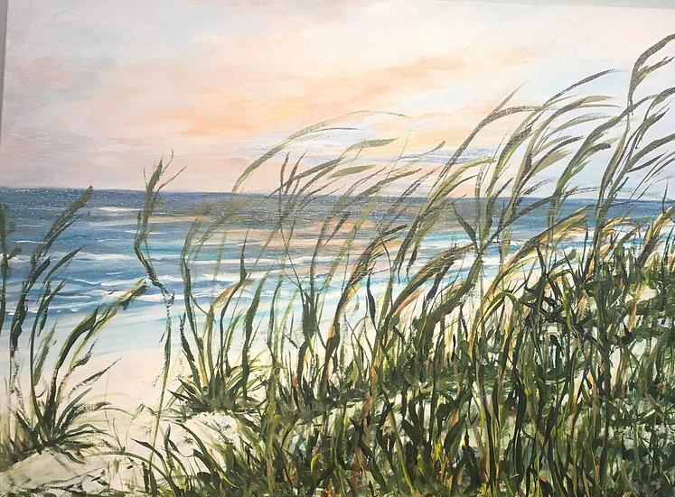 "Sunrise at Seacrest | Acrylic | 30"" x 40"" | Unframed"