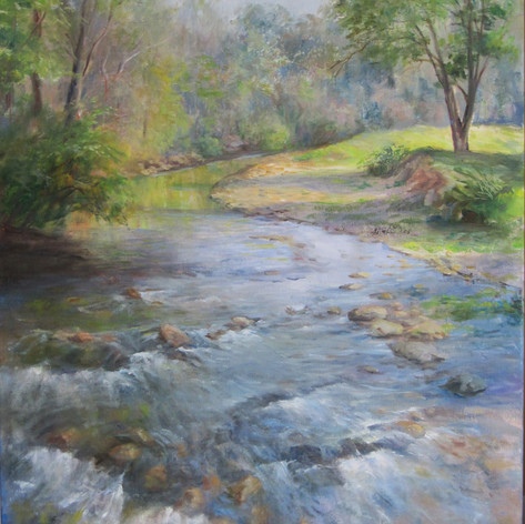 Foothills Stream | Oil | 18 x 24