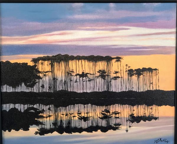 "Slash Pines at Western Lake   Oil   20"" x 24""   Unframed"