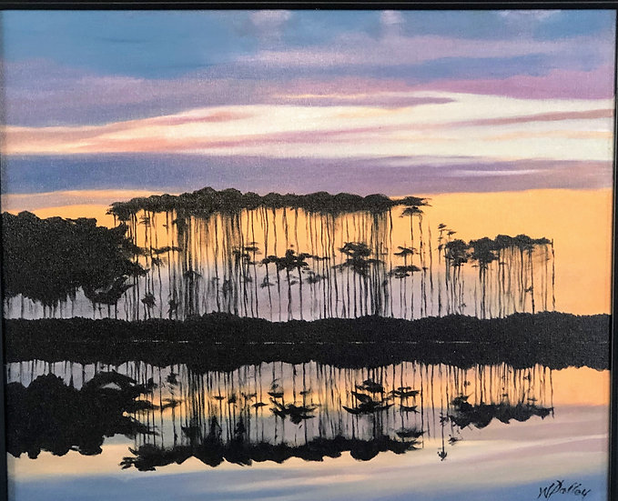 "Slash Pines at Western Lake | Oil | 20"" x 24"" | Unframed"