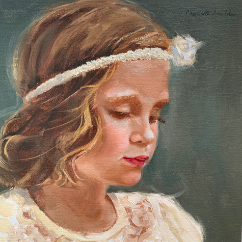 "Innocence | Oil on Linen | 10"" x 10"" 