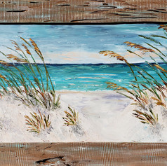 "Gulf Breeze | Oil | 32"" x 57"" Framed"