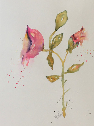 "Pour Out Your Heart | Watercolor | 11"" x 17"" 