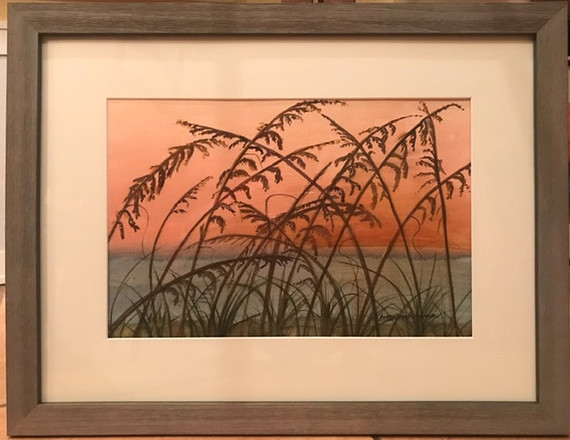"Sea Oats | Watercolor  |  20"" x 26"" 