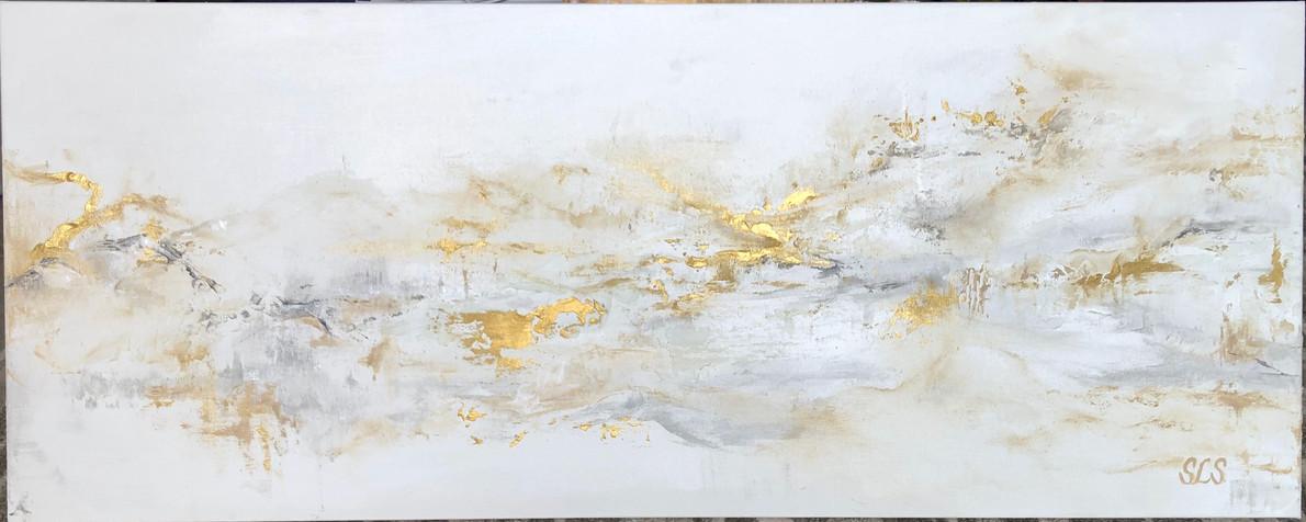 "Golden Opportunity | Acrylic | 40"" x 16"" | Unframed"