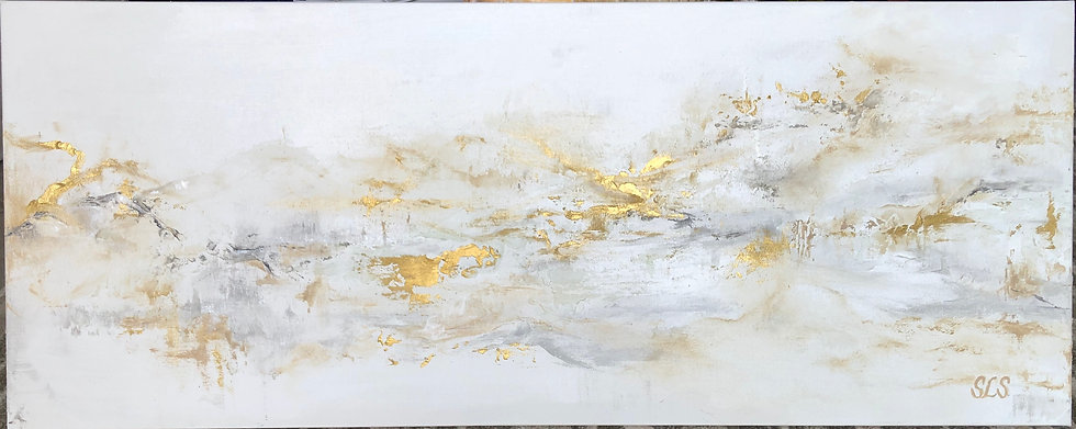 "Golden Opportunity | Acrylic | 40"" x 16"" 