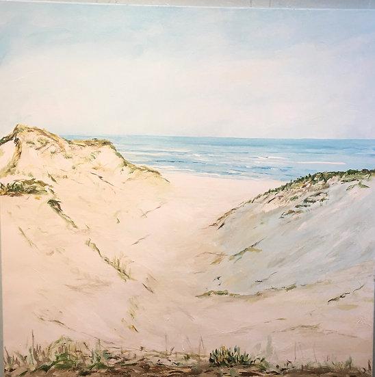 "Dunes of Paradise   Acrylic   36"" x 40""   Unframed"