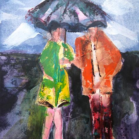 Saving for a Rainy Day | Mixed Media | 8 x 8
