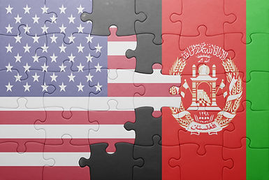 puzzle with the national flag of united