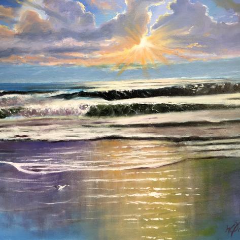 Sun Lit Surf | Oil | 24 x 30