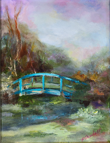 """Monet Monet   Oil   16"""" x 18""""   Framed"""