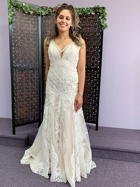 Lace Fit Flare Wedding Gown