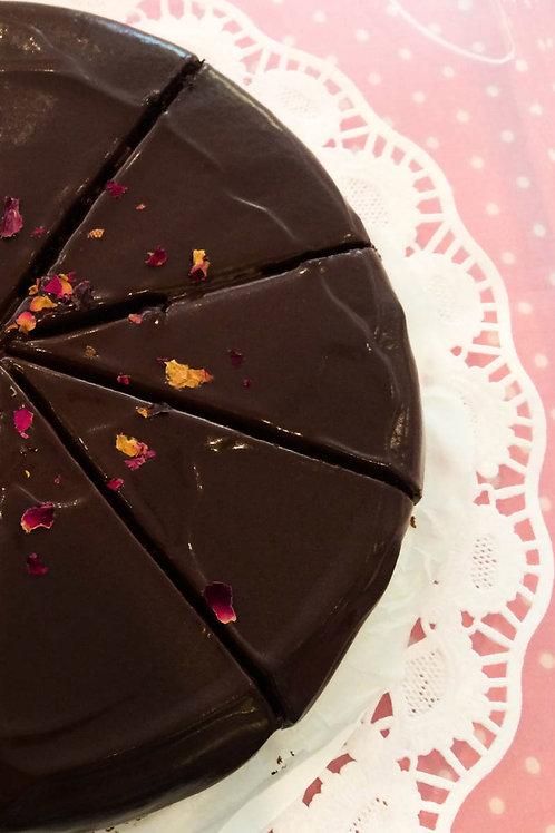 Schokoladenkuchen glasiert V - Klein