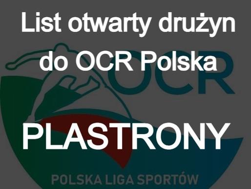 Liga OCR - List otwarty drużyn do OCR Polska - plastrony (aktualizacja 2021-05-12)