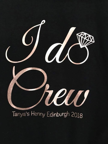 00cd55bd I Do Crew Hen Party Weekend T-shirt or Vest with names on the back